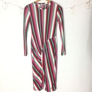 Zara striped dress S